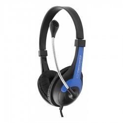 Ακουστικό με μικρόφωνο μπλε EH158B