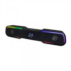 Ηχείο Soundbar USB 6W Μαύρο w/LED EGS101