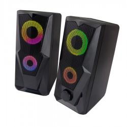 Ηχείο 2.0 USB w/LED Rainbow Baila EGS103