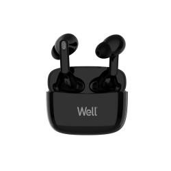 Ακουστικό In-ear Bluetooth V5.0 True Wireless w/Docking station Μαύρο Well BOOSTWE-WL