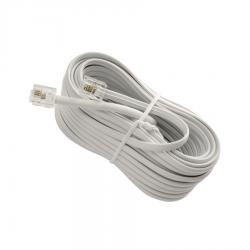 Καλώδιο 10M Λευκό Σύνδεσης Rj11 6p4c
