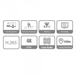 DVR 8Ch Penta-brid 4K-N/5MP Compact 1U WizSense DAHUA XVR5108HS-4KL-I2