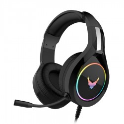 OMEGA Ακουστικό με μικρόφωνο gaming μαύρο με φωτισμό RGB VH6060