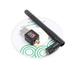 150Mbps Wireless-N USB Adapter 802.11N w/5dpi Detachable Antenna