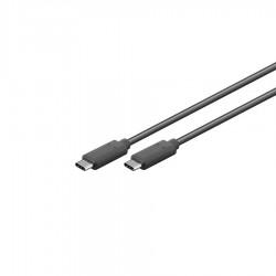 Καλώδιο Type C 3.1 σε USB-C  Φόρτισης - Data 1m Μαύρο Well USBC/USBC-1.0-WL