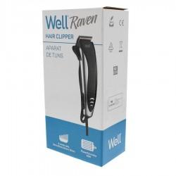 Κουρευτική Μηχανή Μαλλιών 3-12mm 10W Hair Clipper Raven Well CLIPP-HAIR-RAVEN-WL