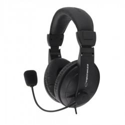 CONCERTO Ακουστικό με μικρόφωνο μαύρο EH103