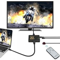 Hdmi Switch 3 In 1 Out 4K Ultra HD