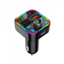 Well Car Mp3 Fm Transmitter με λειτουργία Hands-Free FMTRANS-BT-ESPRIT-WL