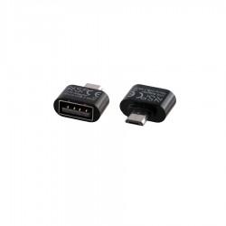Μετατροπέας USB 2.0 OTG 2.4A FEMALE ΣΕ MICRO USB MALE BLACK NSP