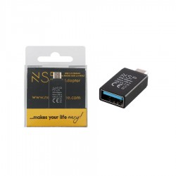 Μετατροπέας USB 3.0 OTG 2.4A FEMALE ΣΕ MICRO USB MALE BLACK NSP