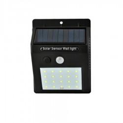 Ηλιακό Επιτοίχιο φωτιστικό 20 LED με αισθητήρα κίνησης αδιάβροχο