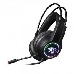 VH8030 Ακουστικό με μικρόφωνο gaming Μαύρο με φωτισμό RGB