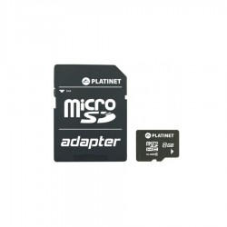 PLATINET microSDHC Secure digital + adapter SD 8GB CLASS 10  PMMSD8