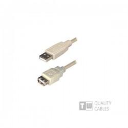 Καλώδιο USB 2.0  Α/Μ-Α/F Προέκταση 1,5m