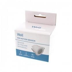 Ανιχνευτής Κίνησης Επιτοίχιος Well SENS-PIR-C02-WL
