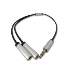 Adapter Cable Jack M 3.5 mm 3 pin to 2 x stereo jack F 3.5 mm