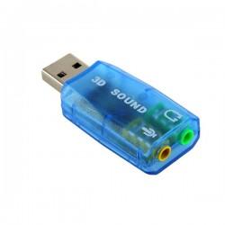Εξωτερική κάρτα ήχου 5.1 USB to Jack 3.5mm F για PC/MAC/Linux