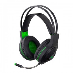 Thanderbird Ακουστικό με μικρόφωνο gaming w/Led μαύρο/πράσινο EGH430