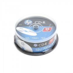 HP CD-R  80/700mb /52x cake box 25pack