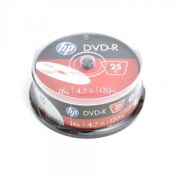 HP DVD-R 4.7GB 16X cake box 25pack