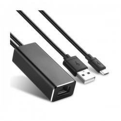 Μετατροπέας Micro USB σε Ethernet 100Mbps με τροφοδοσία Well ADAPT-CHRC/USB-NW-WL