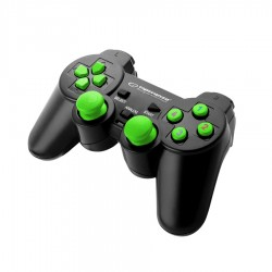 Gamepad EGG102G PC USB WARRIOR BLACK/GREEN