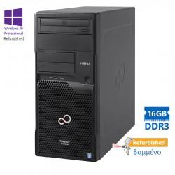 Fujitsu TX1310M1 Tower Xeon E5-1226v3(4-Cores)/16GB DDR3/1TB/DVD/W10P Refurbished Grade A+ Workstati