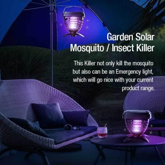 Επαναφορτιζόμενη Ηλιακή Ηλεκτρικη Εντομοπαγιδα Well REP-MOSQ-04BK-WL