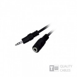 5M Stereo 3.5MM Plug To Jack Mf Nickle