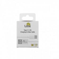 Καλώδιο Type C σε USB 6.0A Φόρτισης - Data 2m Λευκό L01 Lime
