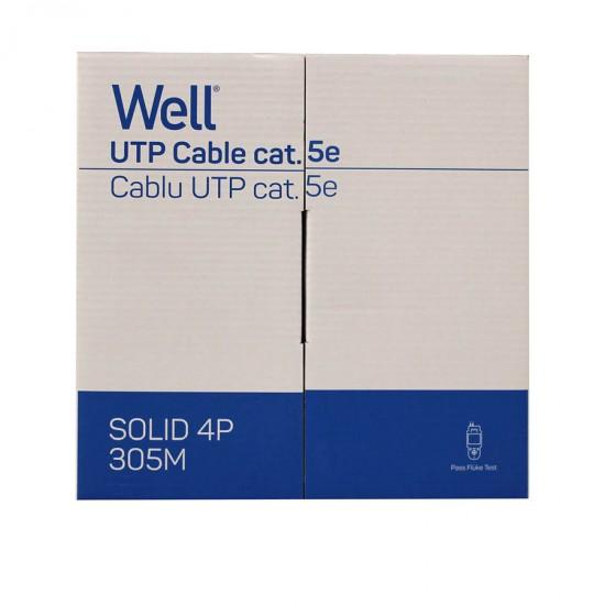 UTP CAT-5 305m Μονόκλωνο Χαλκός Pull Out Box Well UTP5E-CU-305-WL