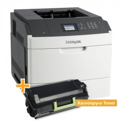 Used Laser Printer Lexmark MS812DN Mono Δικτυακός ( με Extra toner)