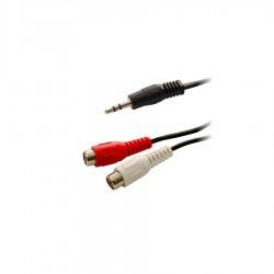 1.5m Stereo 3.5mm M Plug To 2RCA F Plug Nickel