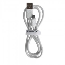Καλώδιο Φόρτισης - Data Micro USB 1m  2.1A Λευκό CA-8211 TREQA