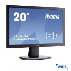 Used Monitor PL2083H TFT/iiyama/20/1600x900/Wide/Black/Grade B/VGA & DVI-D