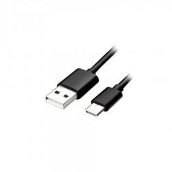 Καλώδιο Φόρτισης - Data Type-C USB 2m  2.4A Μαύρο/Ασημί S-52