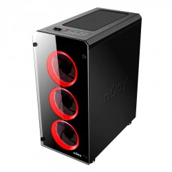 Case Gamer Kian Tower ATX 3x12cm fan LED 2xUSB3.0 2xUSB2.0 Mic/Aud