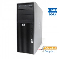 HP Z400 Tower Xeon QC-W3565 (4-Cores)/16GB DDR3/1TB/Κάρτα Γραφικών1GB/DVD/7P Grade A+ Workstation Re