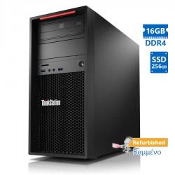 Lenovo P310 Tower Xeon E3-1245v5(4-Cores)/16GB DDR4/256GB SSD/No ODD/Grade A+ Workstation Refurbishe