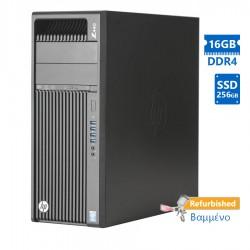HP Z440 Tower Xeon E5-1630v3 (4-Cores)/16GB DDR4/256GB SSD/Nvidia 2GB/DVD-RW/8P Grade A+ Workstation