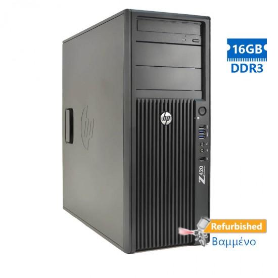 HP Z420 Tower Xeon E5-1620v2(4-Cores)/16GB DDR3/2TB/ATI 1GB/DVD/7P Grade A+ Workstation Refurbished