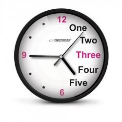 Ρολόι Τοίχου PRAGUE BLACK EHC014K