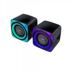 Φορητά Ηχεία 2.0 Bluetooth RGB Well BRW01 (SPKR-MM2.0-BRW01-WL)