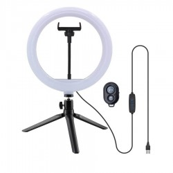 Ring Light LED USB Tripod 25cm with Remote Control Well RING-LIGHT-10-WL