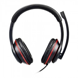 Well Ακουστικό με μικρόφωνο USB 1.8m HEADSET-S02BK-WL