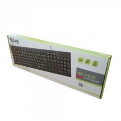 Πληκτρολόγιο USB Μαύρο 108Keys SP-100C