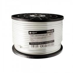 Καλώδιο ομοαξωνικό , Χαλκός, 100m, 6,7mm, λευκό G05LAV