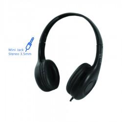 Ακουστικό με μικρόφωνο μαύρο TH114