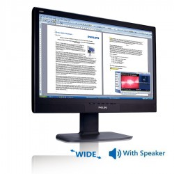 Used Monitor 240BW TFT/Philips/24/1920x1200/Wide/Black/Grade B/With Speakers/VGA & DVI-D